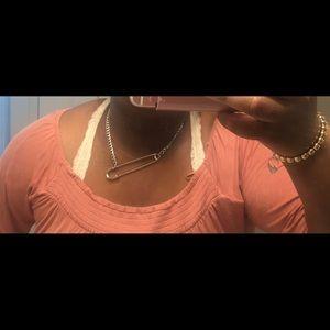 Jewelry - DALMATA safety pin necklace